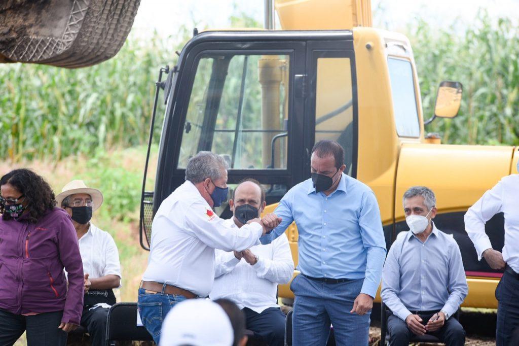 Cuauhtémoc Blanco puso en marcha costrucción de rampa de frenado de emergencia
